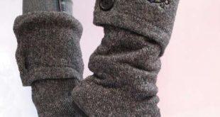 stivali di lana riciclata