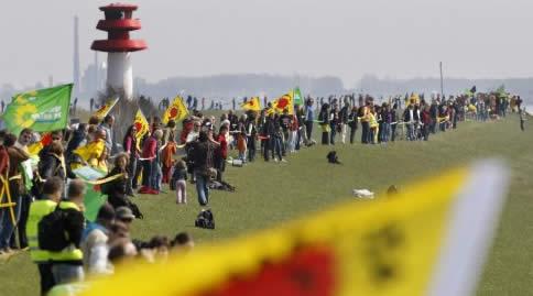 Germania: catena umana per dire NO al nucleare