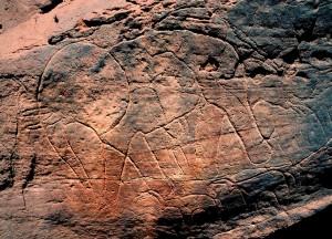 Sahara, graffito paleolitico
